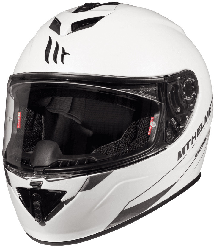 CASCO MT FF104 RAPIDE SOLID A0 BLANCO PERLA BRILLO