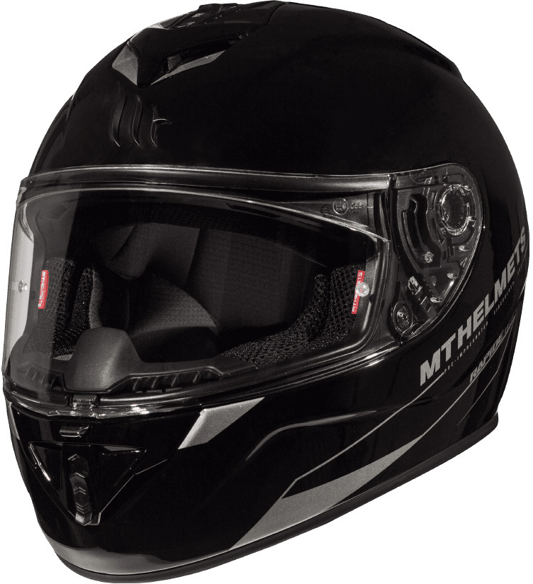 CASCO MT FF104 RAPIDE SOLID A1 NEGRO BRILLO