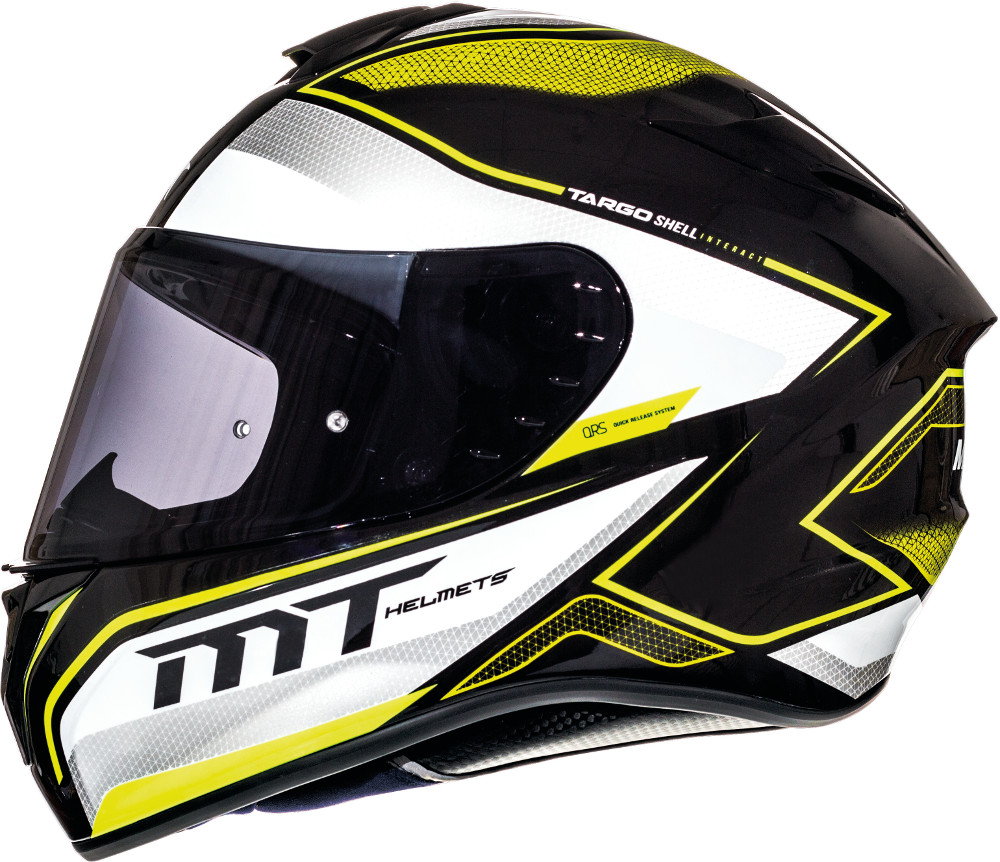 CASCO MT FF106 TARGO INTERACT A4 AMARILLO FLUOR PERLA BRILLO