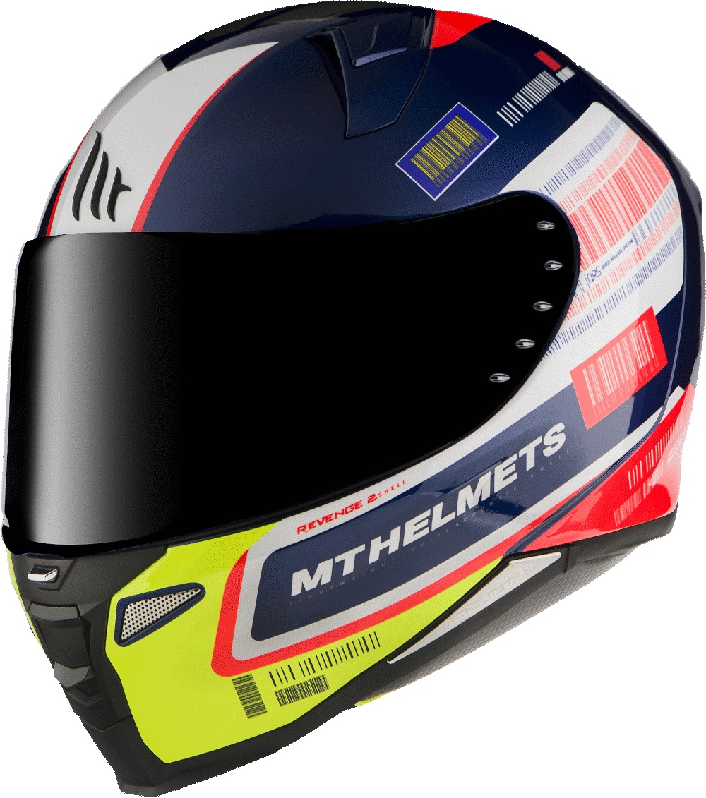 CASCO MT FF110 REVENGE 2 RS A0 AZUL PERLA BRILLO